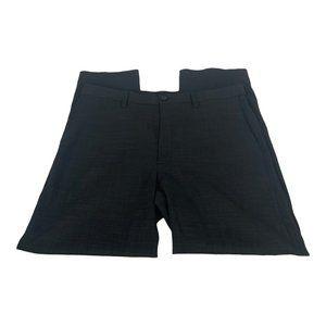 Savane Men's Black Flat Front Dress Pants Size 36